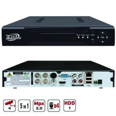Мультиформатный видеорегистратор  4-х канальный  2Mp