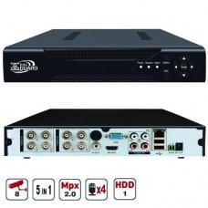 8-ми канальный мультиформатный видеорегистратор  2Мр