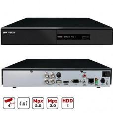 4-x канальный мультиформатный видеорегистратор 2Мр